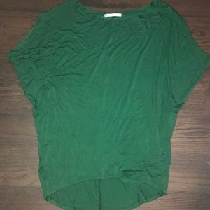 Green Off the Shoulder Tunic